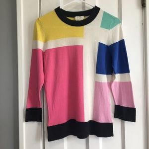 Kate Spade Rylee Color Block Rainbow Sweater